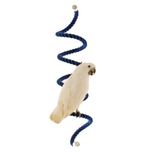 Poleiro de algodão em forma de trepadeira para papagaios