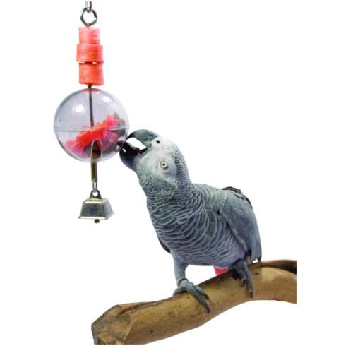 Esfera interativa porta guloseimas para papagaios