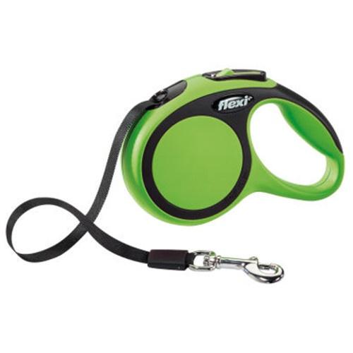 Flexi New Comfort trela extensível de fita verde