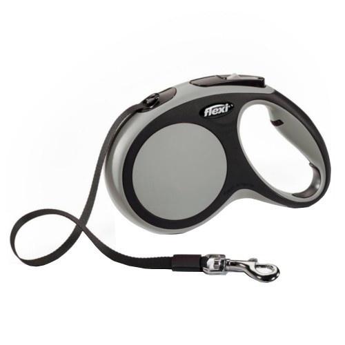 Flexi New Comfort trela extensível de fita cinzenta