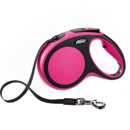 Flexi New Comfort trela extensível cor-de-rosa