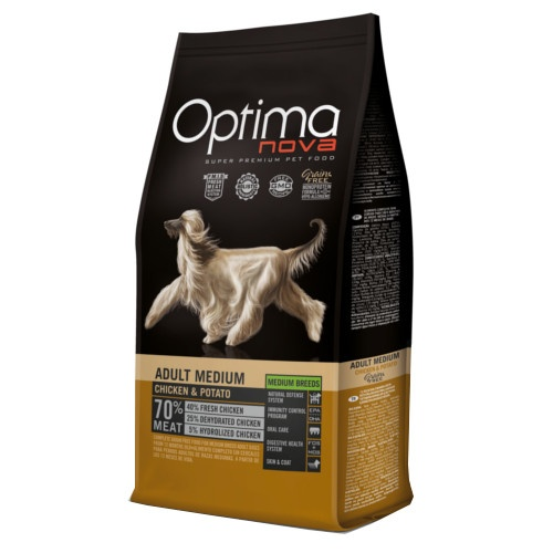 Ração Optima Nova Adult Medium Grain Free