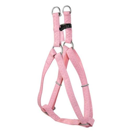 Arnês de pele MacLeather cor-de-rosa