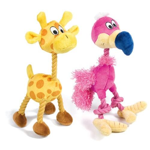 Peluche Girafa & Abutre com corda