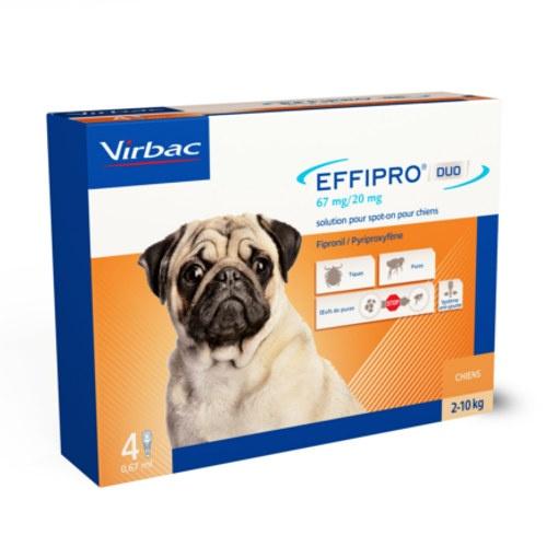 Pipetas para cães Effipro Duo antiparasitárias