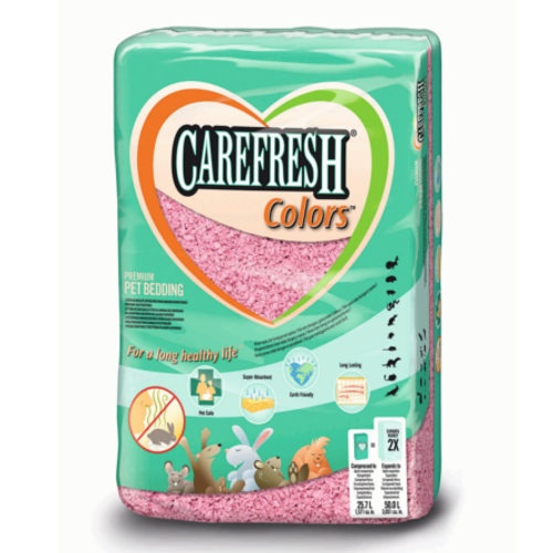 Leito Carefresh Colors cor-de-rosa para roedores
