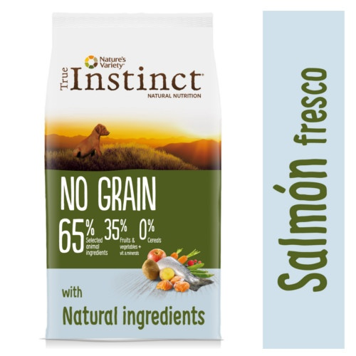 True Instinct No Grain com salmão para cachorros