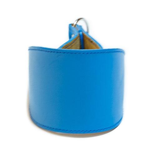 Coleira de couro para galgos Clásico azul