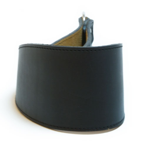Coleira de couro para galgos Clásico preta