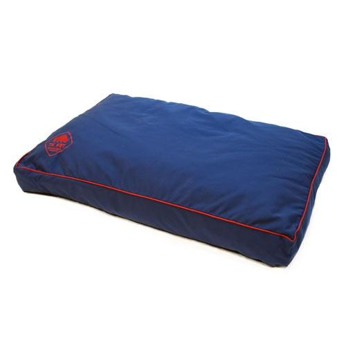Cama viscoelástica tipo colchão TK-Pet Woof azul