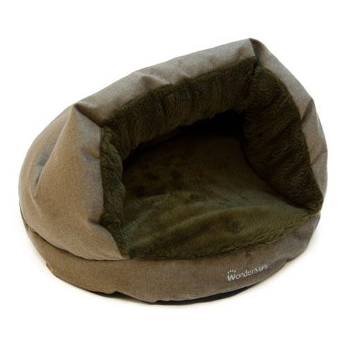 Cama caverna para gatos Wondermals Luxe castanha