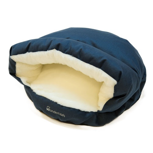 Cama caverna para gatos Wondermals Luxe azul marinho