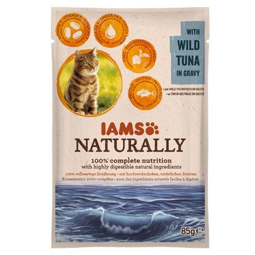 IAMS Naturally húmido com atum para gatos