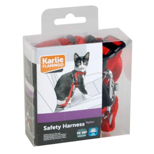 Arnês de segurança com cinto para gatos