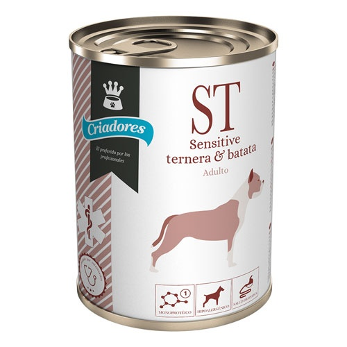 Alimento húmido Criadores Dietetic Sensitive vitela e batata doce