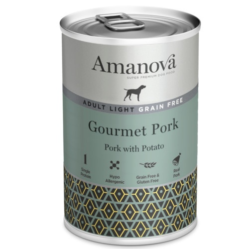 Amanova Adult Light Grain Free com porco