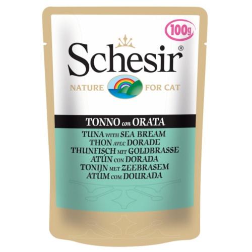 Schesir saquetas de comida húmida atum e dourada