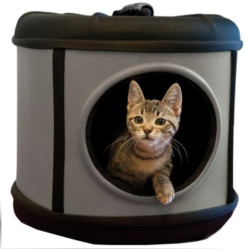 Cama caixa de transporte 2 em 1 para gatos e cães