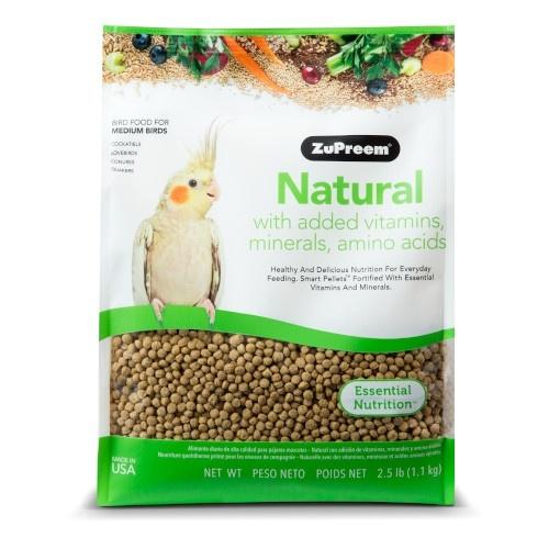 Ração Zupreem Natural para pássaros médios