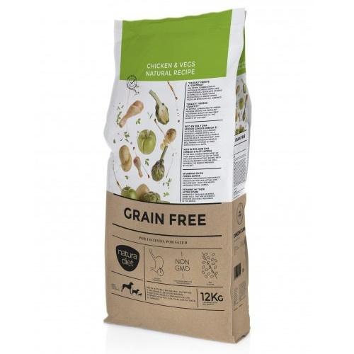 Ração Natura Diet Grain Free frango e vegetais