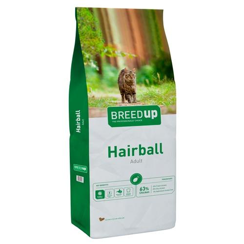 Ração para gatos Breed Up Hairball