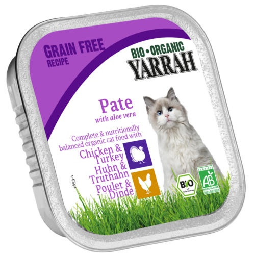 Patê ecológico Yarrah de frango, peru e aloe