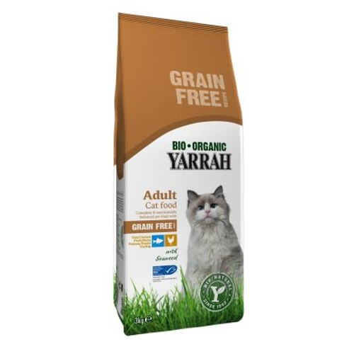 Ração ecológica Yarrah sem cereais para gatos