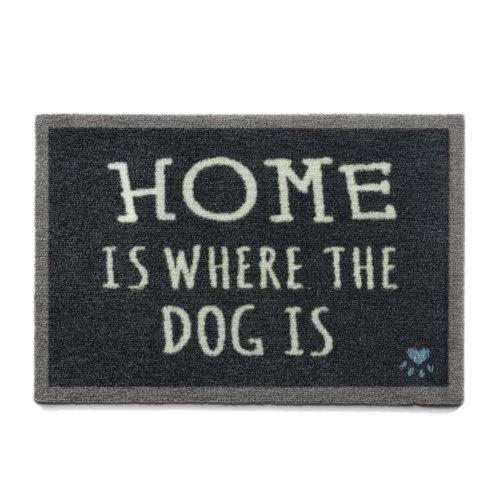 Capacho canino Home Is Dog preto