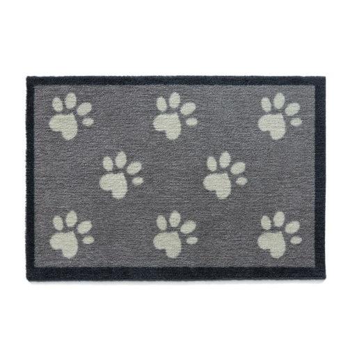 Capacho canino cinza com pegadas