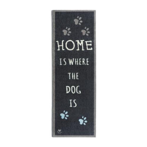 Capacho canino comprido Home Is Dog preto