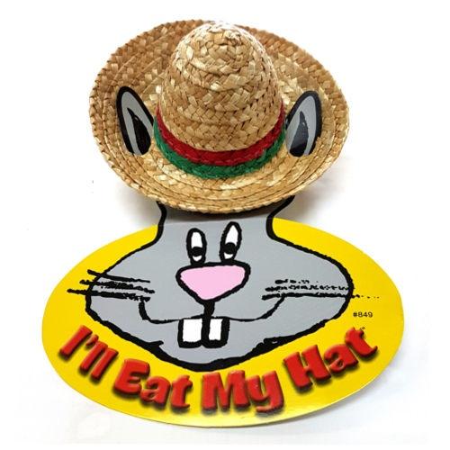 Chapéu de palha comestível para coelhos