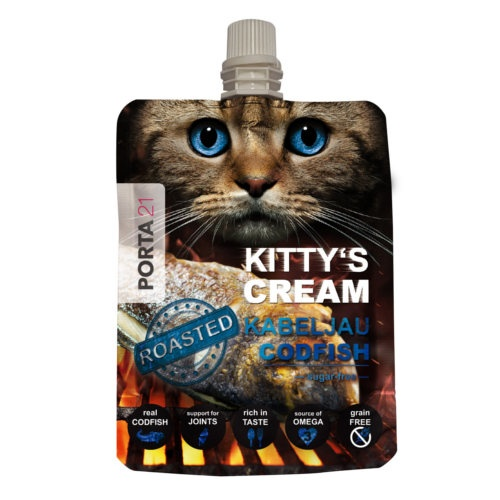 Snack cremoso Kitty's Cream de bacalhau