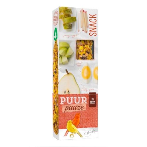 Barritas de frutas e ovo Puur para canários