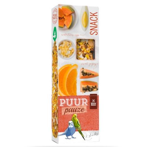 Barritas de frutas e ovo Puur para periquitos