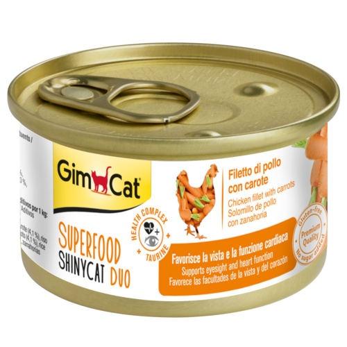 Comida húmida GimCat de frango e cenoura