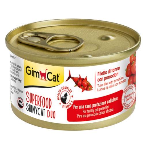 Comida húmida GimCat de atum e tomate