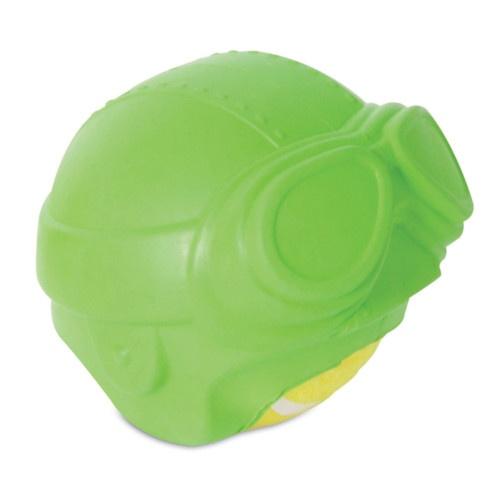 Bola de ténis com capa de borracha