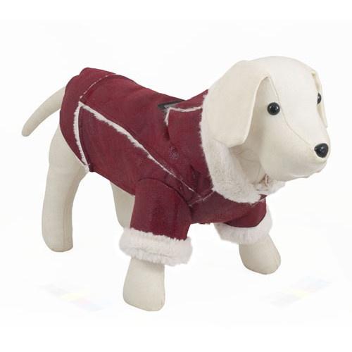 Jaqueta para cães Chic Dog bordô
