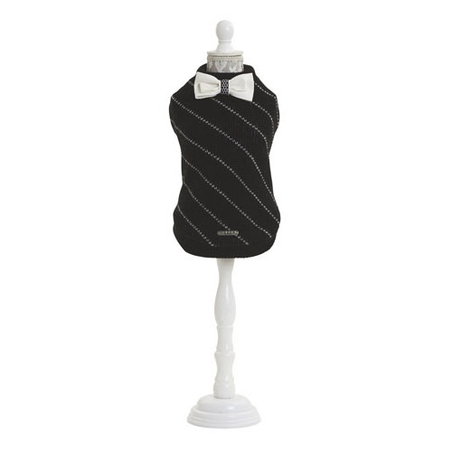 Camisola de malha com laço Bow Tie