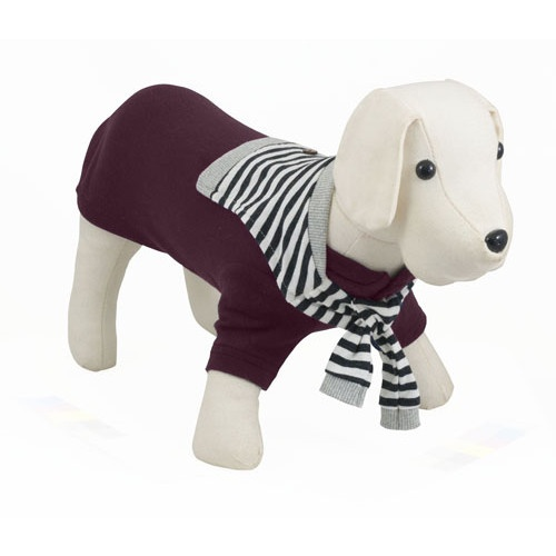 Camisola de malha para cães Sotavento grená