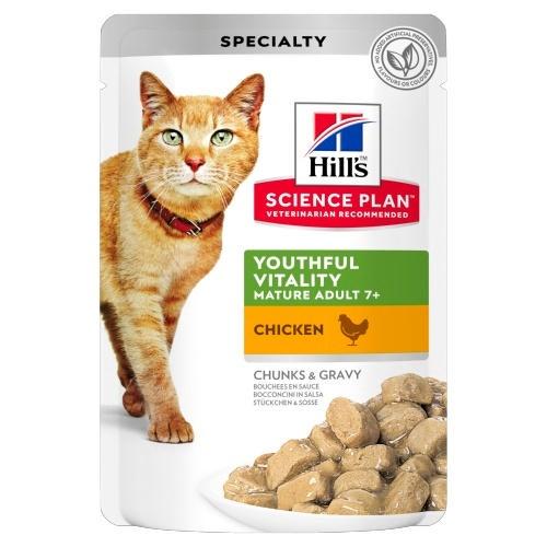 Hill's Youthful Vitality húmido para gatos com frango