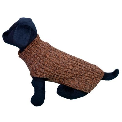 Camisola de malha para cães Alfa laranja