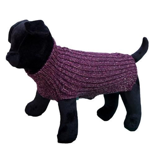 Camisola de malha para cães Alfa grená