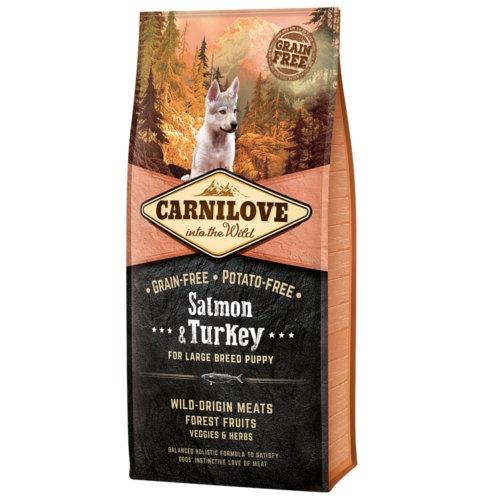 Ração Carnilove Salmon & Turkey cachorros raça grande
