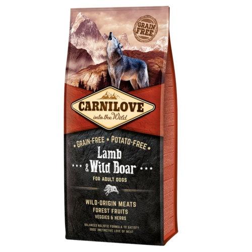 Ração Carnilove Lamb & Wild Boar para cães