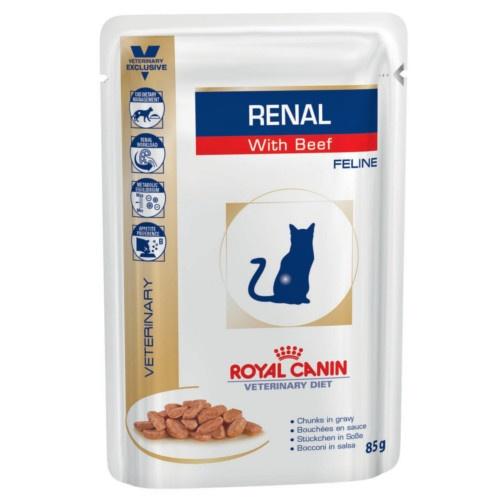 Royal Canin Renal húmido com carne de vaca para gatos