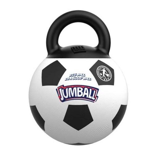 Bola de futebol com alça de borracha