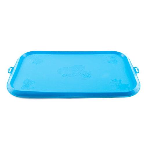 Tapete de borracha para comedouro TK-Pet azul