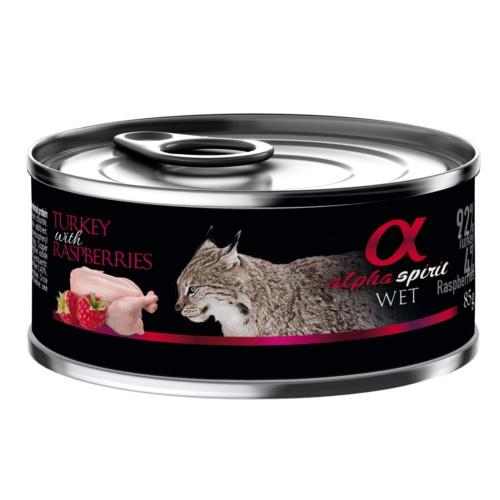 Alpha Spirit húmido peru com framboesas para gatos