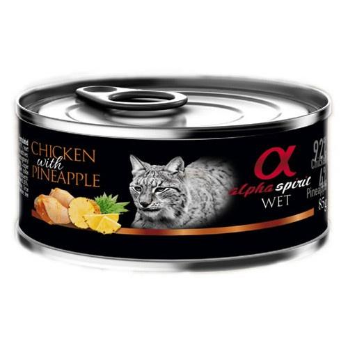 Alpha Spirit húmido frango com ananás para gatos